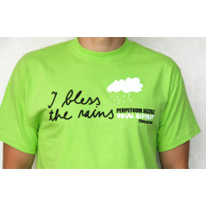 """I BLESS THE RAINS"" MEN'S T-SHIRT - Green (Retro Limited Edition Collectibles Item)"