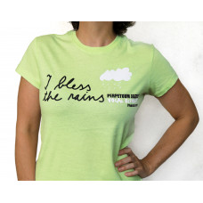 """""""I BLESS THE RAINS"""" WOMEN'S T-SHIRT - Green (Retro Limited Edition Collectibles Item)"""